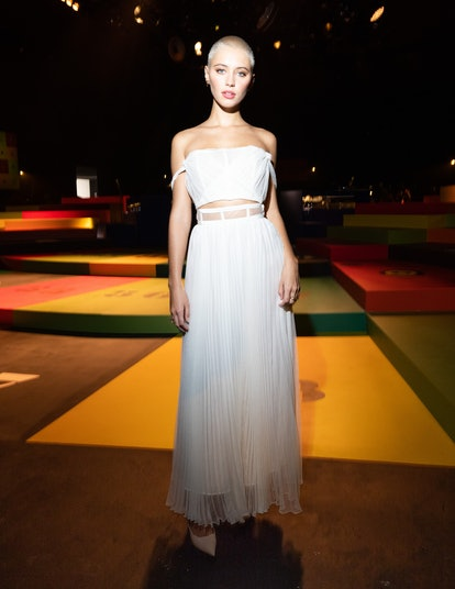 Iris Law attends the Dior Womenswear Spring/Summer 2022 show as part of Paris Fashion Week on Septe...