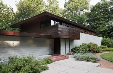 a view of The Bachman-Wilson House by Frank Lloyd Wright