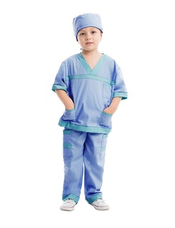 a kid in a vet costume for halloween