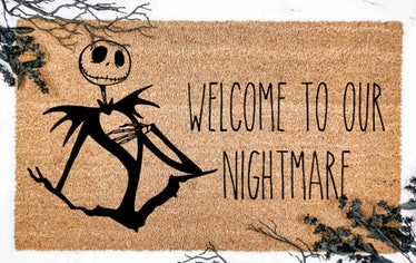 These Halloween doormat options include a 'Nightmare Before Christmas' design.