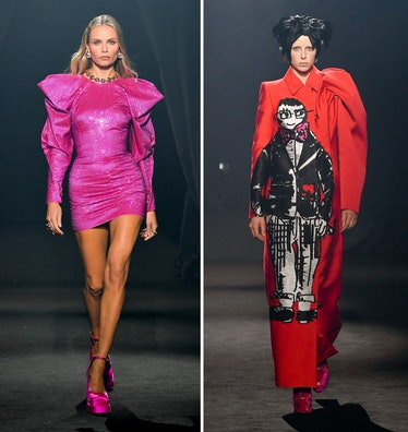 Two looks from the Alber Elbaz AZ Factory tribute show