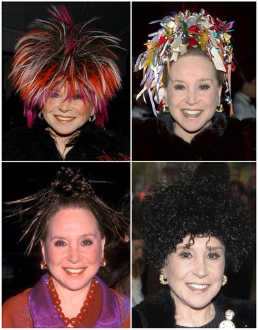 A variety of Adams's hairstyles throughout the years.