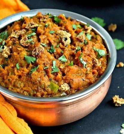 Close up image of a bowl of Pumpkin Petha Vadi