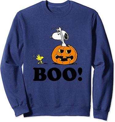 Peanuts Halloween Snoopy Woodstock BOO! Pullover Sweatshirt