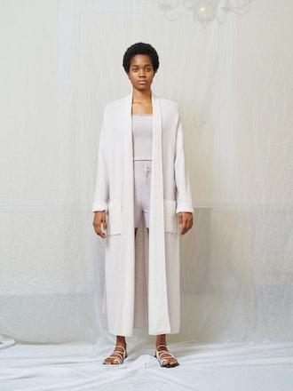 Robe Coat with Plush Pockets from Mandkhai.
