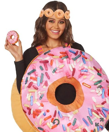 These Dunkin' Halloween costumes at Spirit include the Strawberry Frosted Donut.