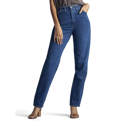 LEE Relaxed-Fit Side Elastic Tapered-Leg Jean