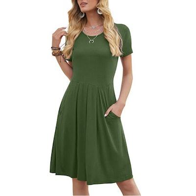 DouBCQ Pleated T-Shirt Dress