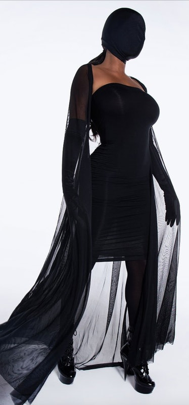 Black gown inspired by Kim Kardashian Met Gala dress