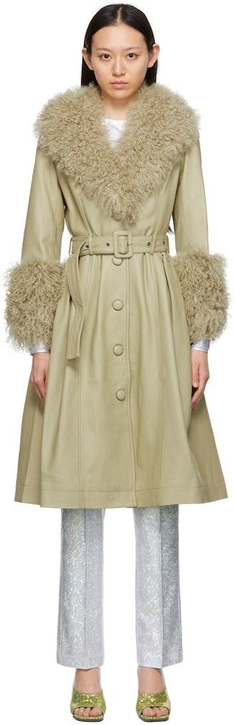 Green Shearling Foxy Coat