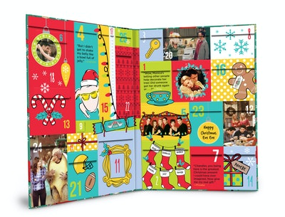 """Product photo of the inside of the """"Friends"""" 2021 Advent Calendar"""