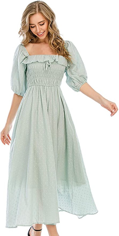 R.Vivimos Women Summer Half Sleeve Cotton Dress