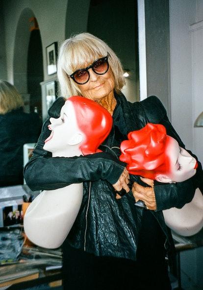 Barbara Hulanicki wears her own clothing and jewelry.