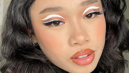 Makeup Artist Katrina Wearing Hand-Drawn Makeup