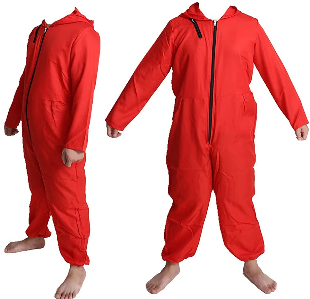 Unisex Jumpsuits Halloween cosplay costume Red Costume