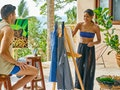 Natasha Parker enjoys a painting date on 'Bachelor In Paradise.'