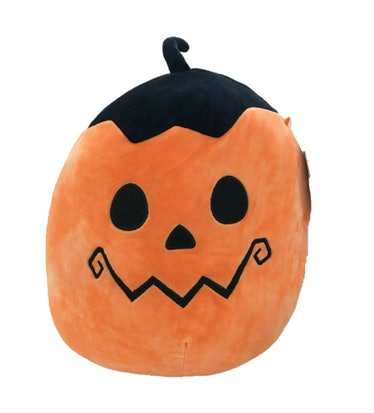 You can dress up this Jack-O-Lantern squishmallow with a squishmallow costume idea on TikTok.