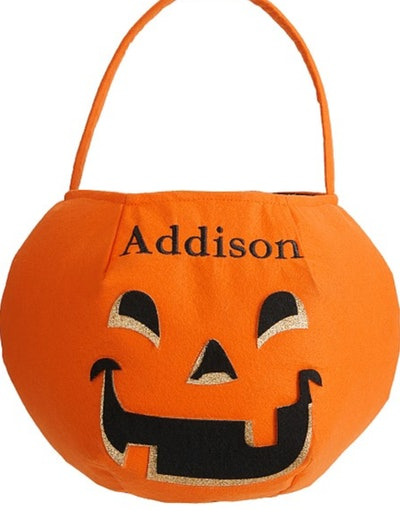 Pumpkin Glitter Puffy Halloween Treat Bag