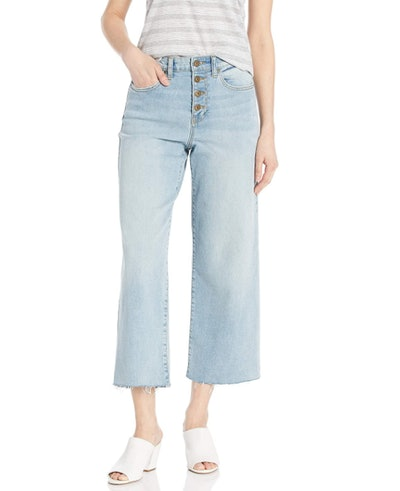 Daily Ritual Wide-Leg Cropped Jeans