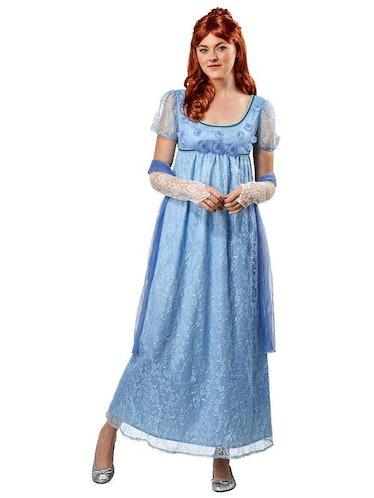 Regency Blue Lace Dress for Adults