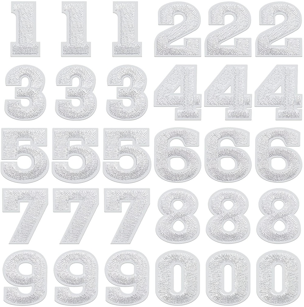 30 Pieces Numbers Patches Iron on Numbers