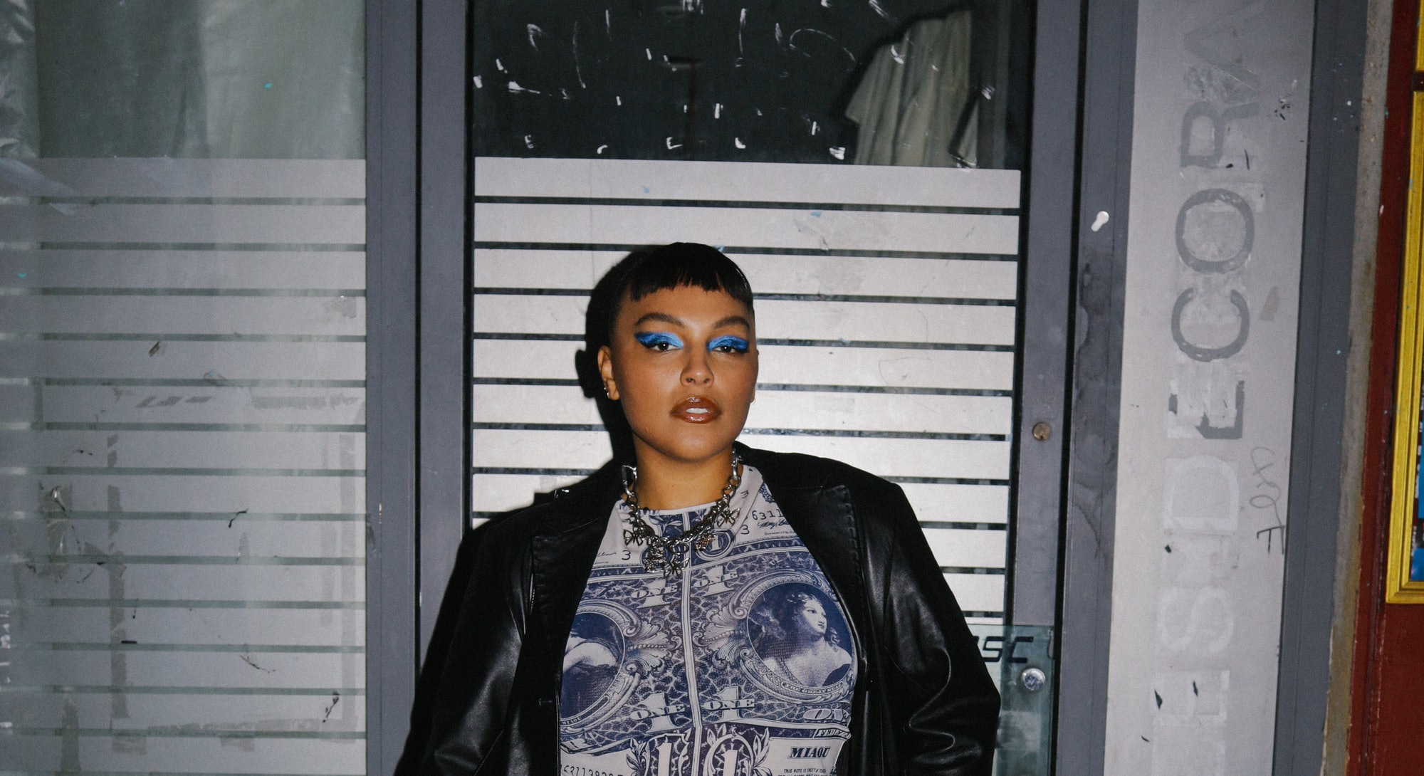 Paloma Elsesser at the Miaou dinner in Paris