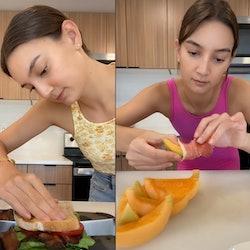 Emily Mariko makes lunch recipe salmon bowl.