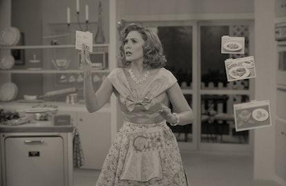Elizabeth Olsen as Wanda in the 1950s