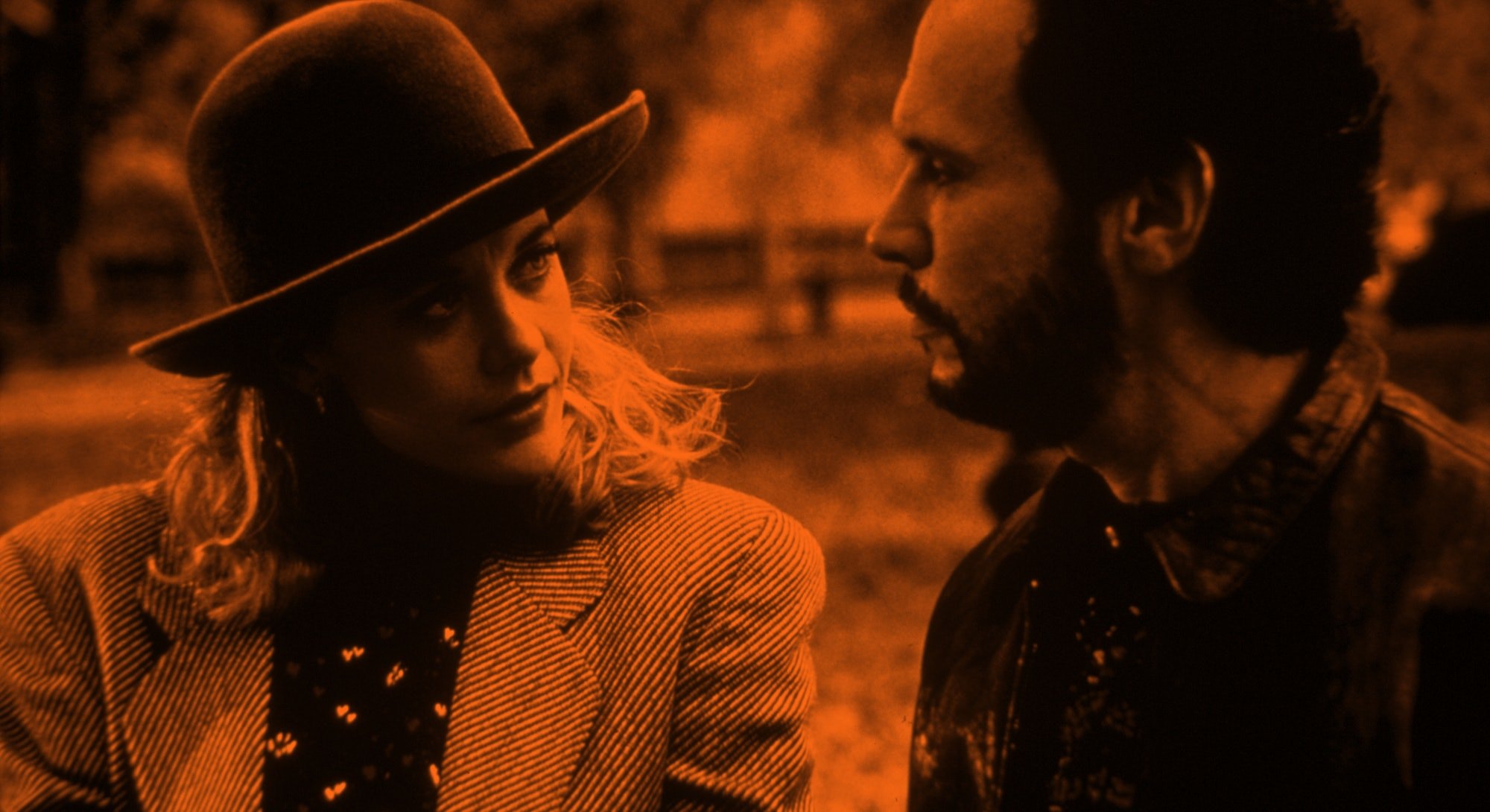 FILM STILLS OF 'WHEN HARRY MET SALLY' WITH 1989, BILLY CRYSTAL, ROB REINER, MEG RYAN IN 1989