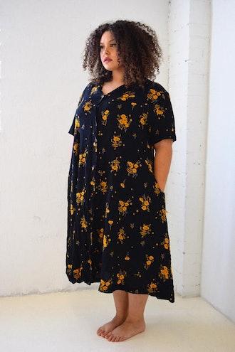 Carina Dress Black Floral