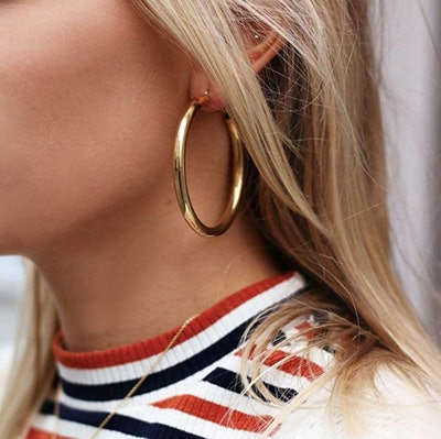 Doubnine Tube Hoop Earrings