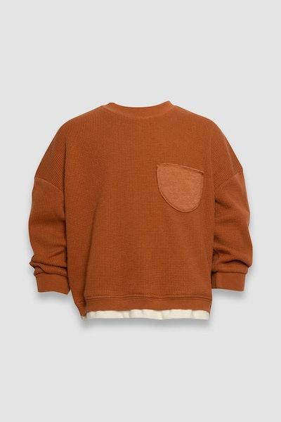 burnt orange kids unisex pullover sweatshirt from Senna Case