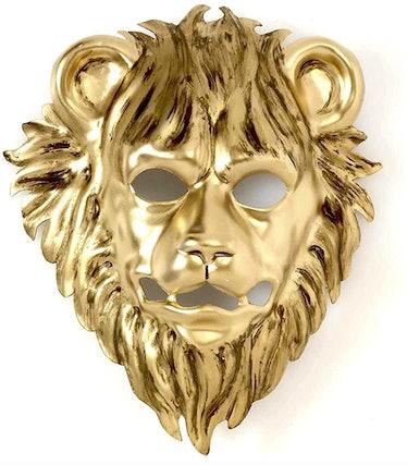 The 'Squid Game' VIPs wear golden animal masks.