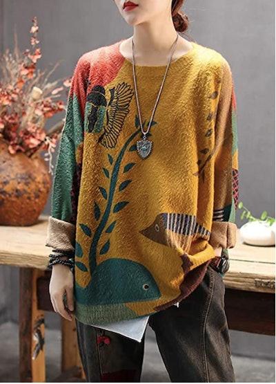 YESNO Graphic Sweater