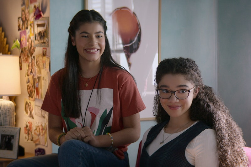KYNDRA SANCHEZ as the new DAWN SCHAFER and MALIA BAKER as MARY ANNE SPIER in Season 2 of THE BABY-SI...