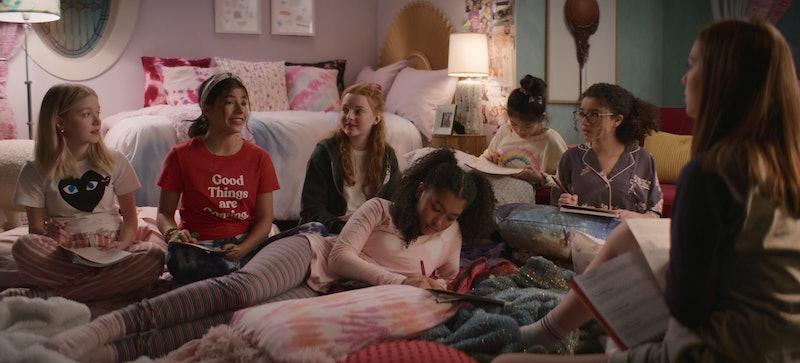 Shay Rudolph as Stacey McGill, Kyra Sanchez as Dawn Schafer, Vivian Watson as Mallory Pike, Anais Le...