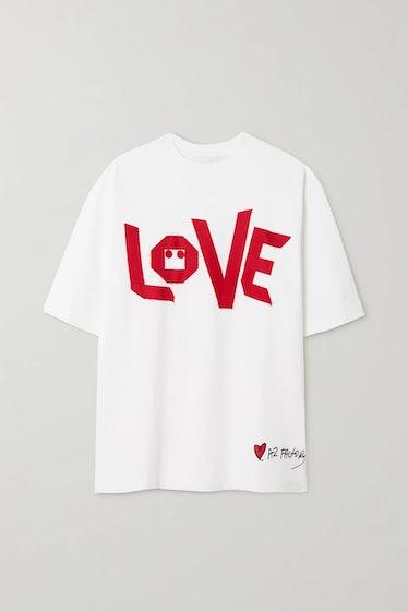 AZ Factory's Love oversized cotton T-shirt.