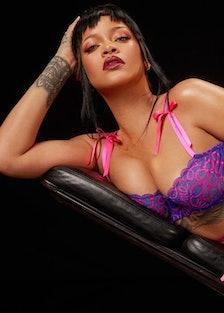 Rihanna modeling Savage x Fenty