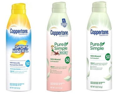 Five Coppertone spray sunscreens were recalled on Sept. 30, 2021.