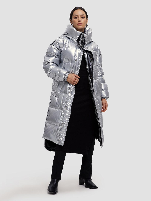 Maxi Shiny Puffer Jacket