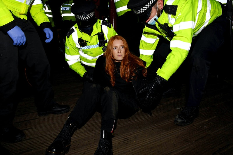 Patsy Stevenson is arrested at a vigil in memory of murdered Sarah Everard