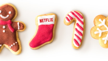 Holiday cookies with the Netflix logo on them