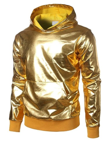 Front Man wears a gold hoodie on 'Squid Game.'