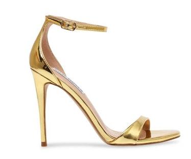 Gold strappy sandal stiletto