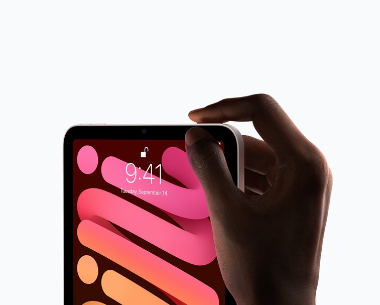 iPad mini 6 tablet with touch id