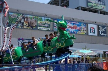 The Rayquaza ride at the shortlived Poképark