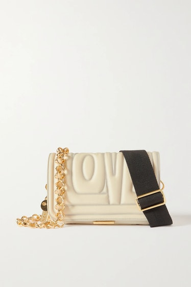 AZ Factory's The Hugging With Love mini quilted nylon shoulder bag.