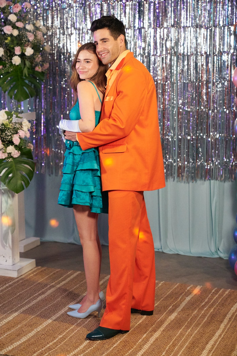 Ed Waisbrot and Mykenna Dorn posing at prom on 'Bachelor In Paradise'.
