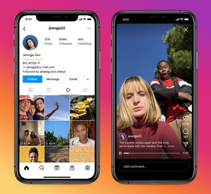 A screenshot showing how to use Instagram video.