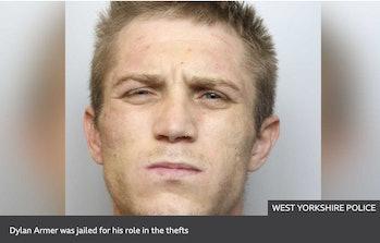 BBC Yorkshire Police mugshot of car thief using fake Game Boy
